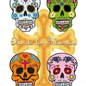 poster colorido dia de los muertos