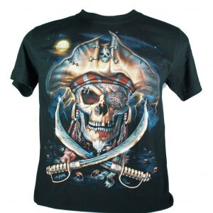remera con calavera pirata fantasma