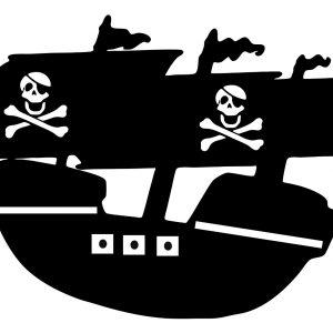 vinilo barco pirata