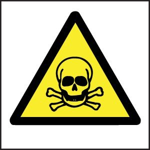 vinilo de calavera señal de peligro