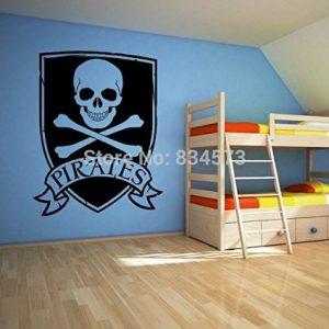 vinilo decorativo de calavera pirata
