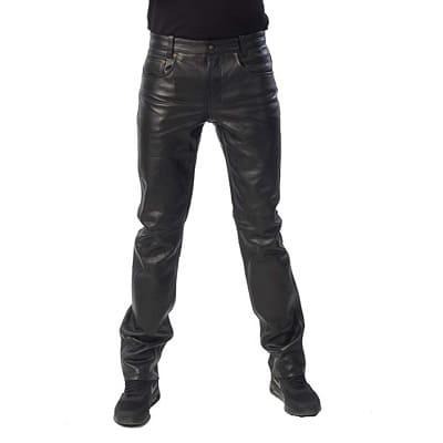 Pantalones Rockeros Cubrete De Cuero Negro Para Tus Fans