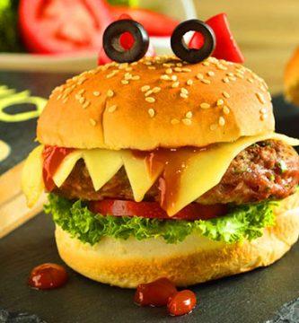 receta de hamburguesa vampiro