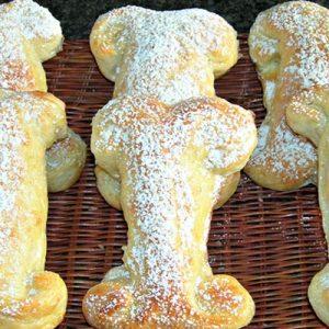 receta huesos de pan dulce