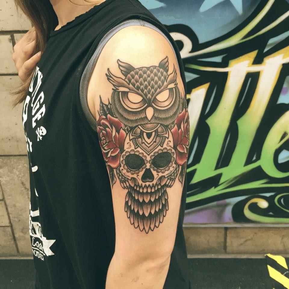 Tatuajes De Búhos Y Calaveras Decalaverascom